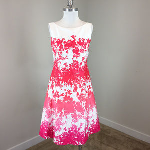 New Pendleton M 8 Pink White Ombre Floral dress